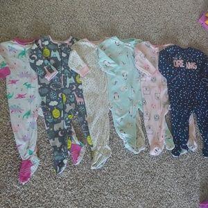 6 pair- Bundle of Carter's Pajamas